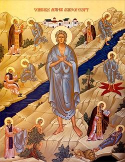 مريم المصرية أيقونة الصوم المقدس والقيامة المجيدة