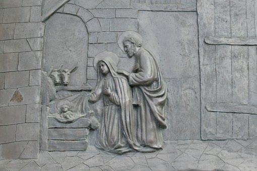 العذراء القديسة ويوسف البار خدام سر التجسد